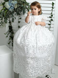 handmade baptism dress lace gown burbvus g025