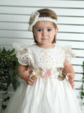 duponi christening gown baby girls burbvus