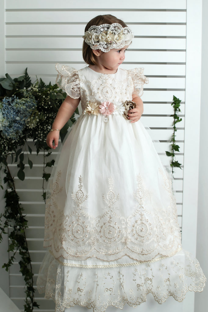 christening dress g026 burbvus rose color
