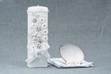 Handmade Christening/ Baptism Candle kit 16 in white