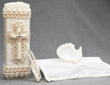 Baptism Candle set Burbvus, Christening and First communion candle