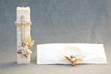 Ivory Baptism Square handcrafted Candle kit