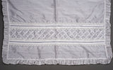 Handmande cotton baby blanket perfect for a Christening Gift B001