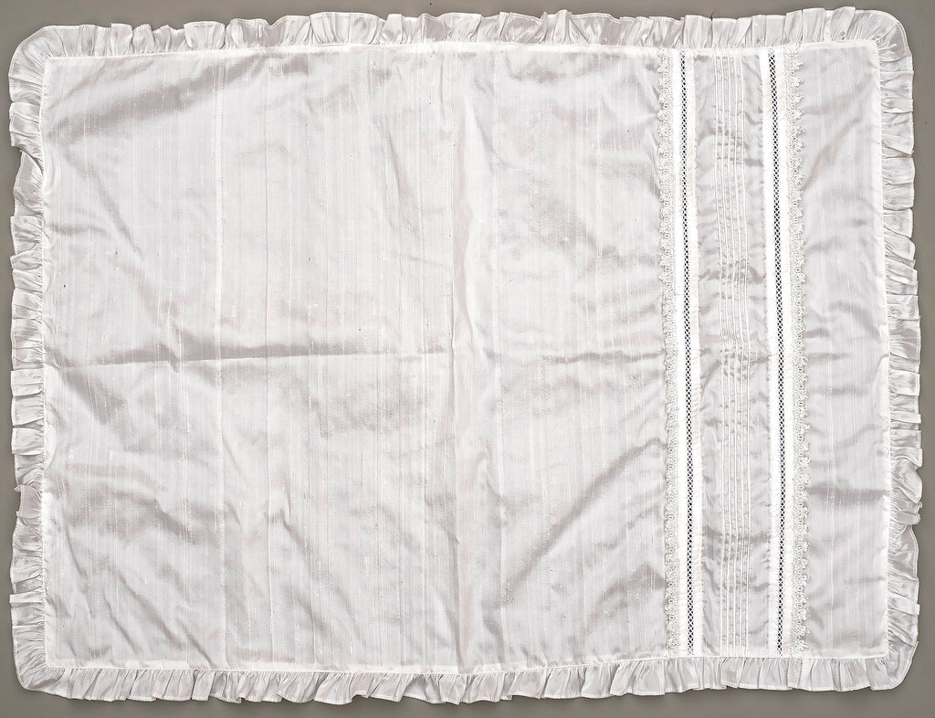 White Christening Baby blanket B009