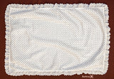Embroidered white baptisim blanket