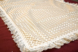 Embroidered Ivory Christening baby blankets