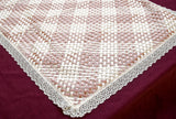 Pink and white HandEmbroidered baptism blanket