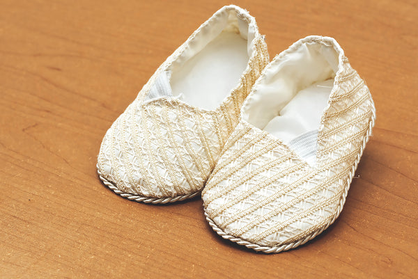 Christening Ivory baby shoes B002