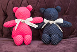 Pink and blue stuffed teddy bears
