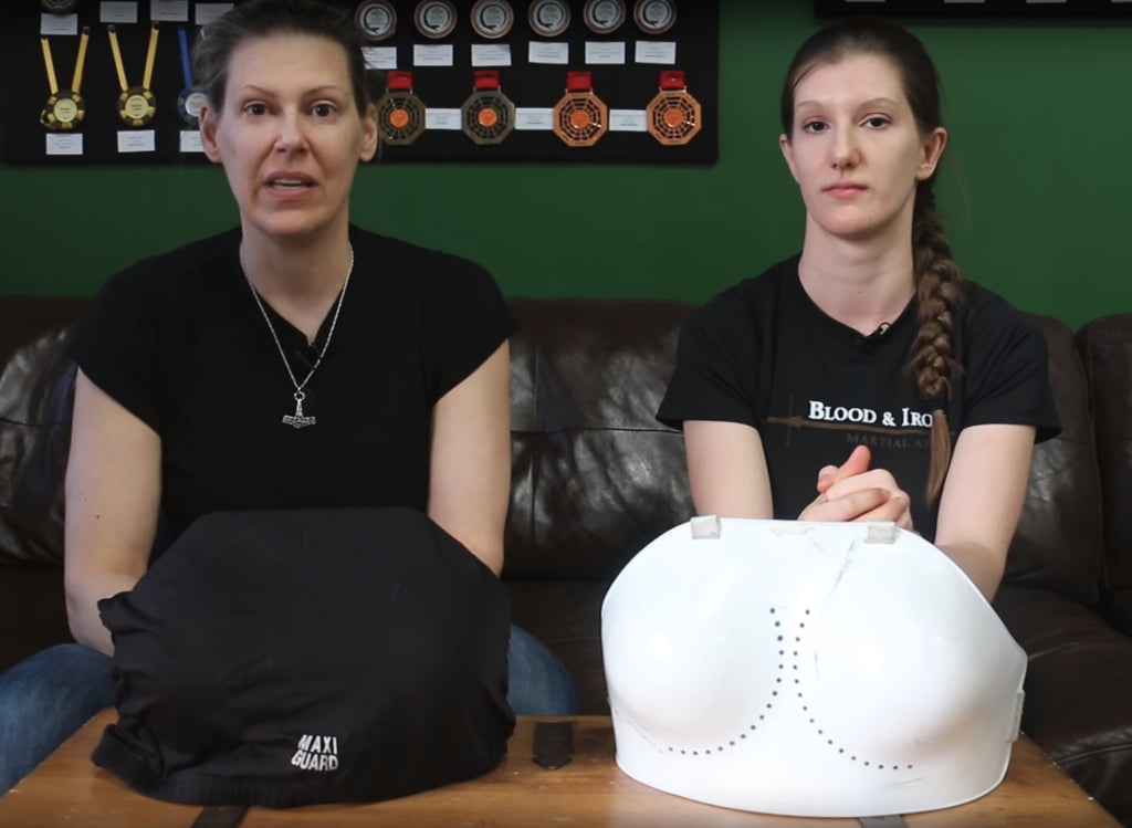 What trained fighters are saying about our womens' chest guards