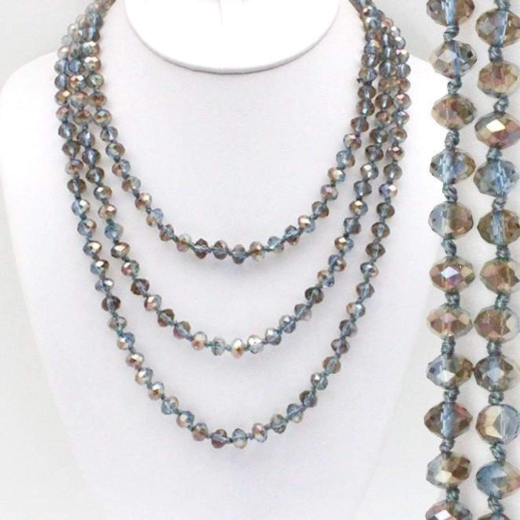"60"" Assorted Colorful Crystal Beaded Necklaces - Charmingly Unique Boutique"