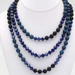 "60"" Crystal & Lava Bead Necklaces - Charmingly Unique Boutique"