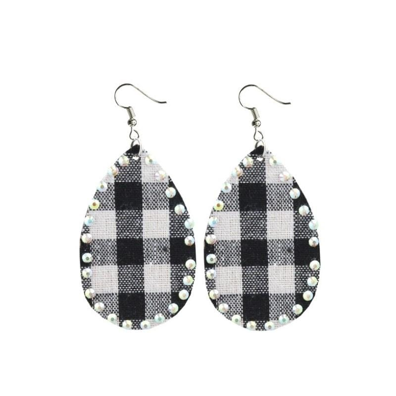 Buffalo Plaid Earrings - Charmingly Unique Boutique