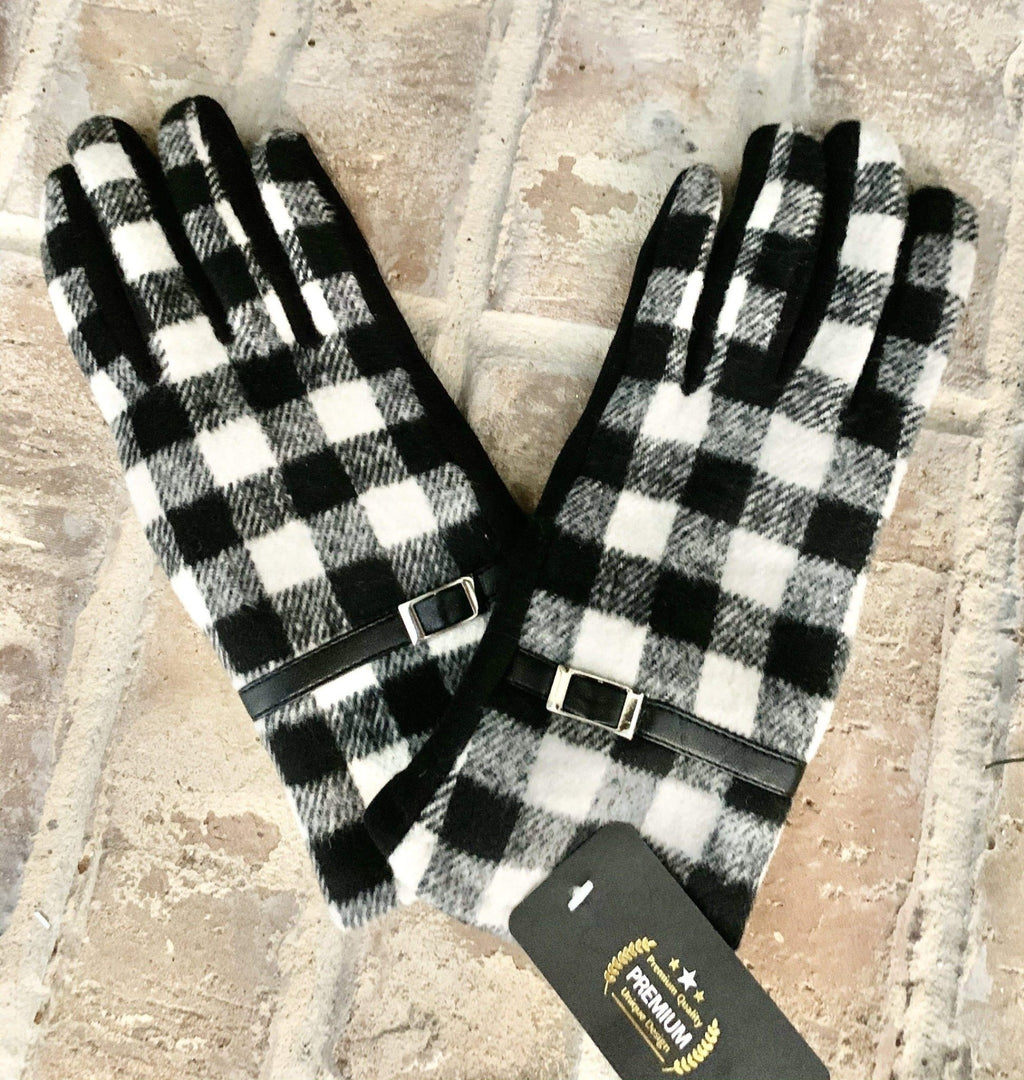 Buffalo Plaid Gloves - Charmingly Unique Boutique