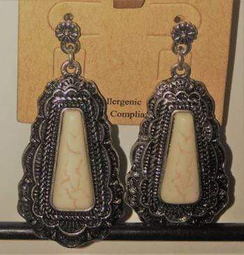 Burnished Silver Dangle Earrings - Charmingly Unique Boutique