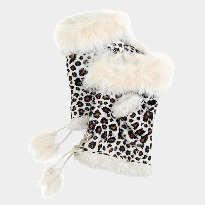 Leopard Print Fingerless Gloves - Charmingly Unique Boutique