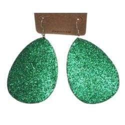 Glitter Leather Earrings - Charmingly Unique Boutique