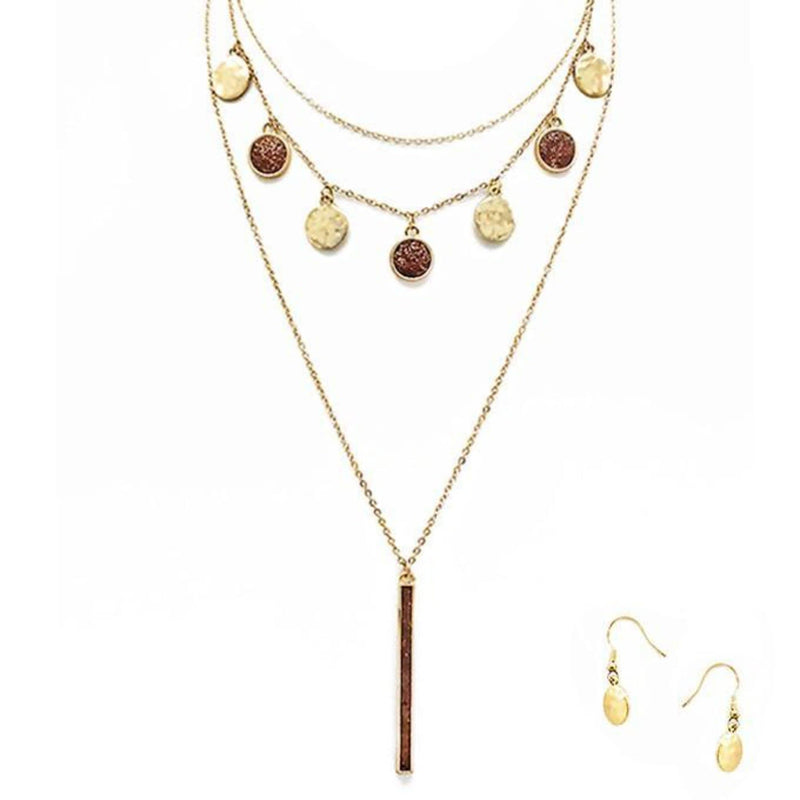 Gypsy Soul Layered Necklace/Earring Sets - Charmingly Unique Boutique