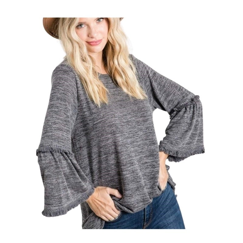 On The Fringe Knit Top - Charmingly Unique Boutique