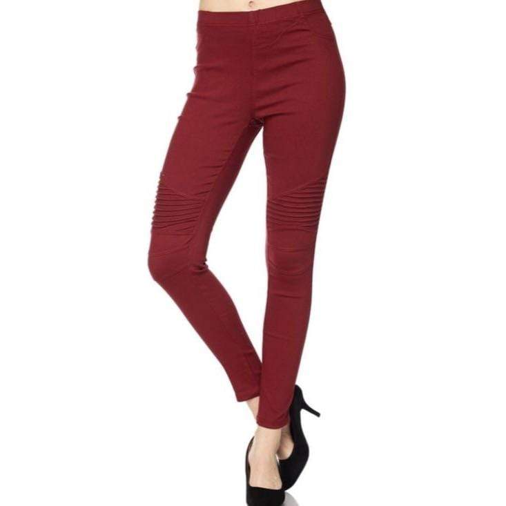 Plus Size Moto Jeggings - Charmingly Unique Boutique