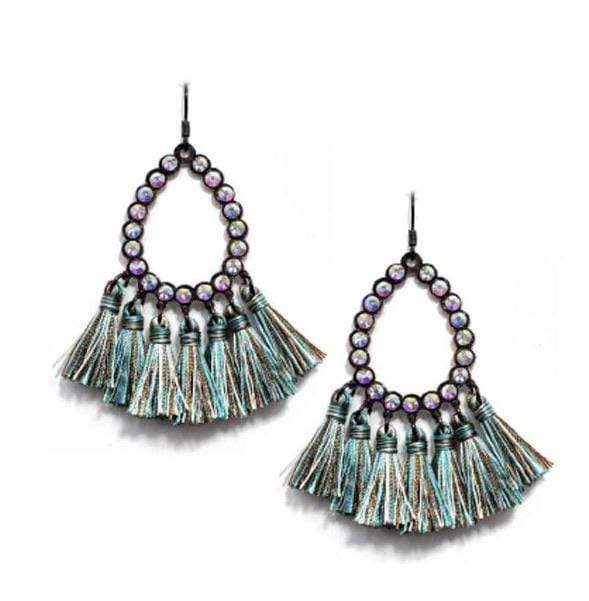 Rhinestone Tassel Earrings - Charmingly Unique Boutique