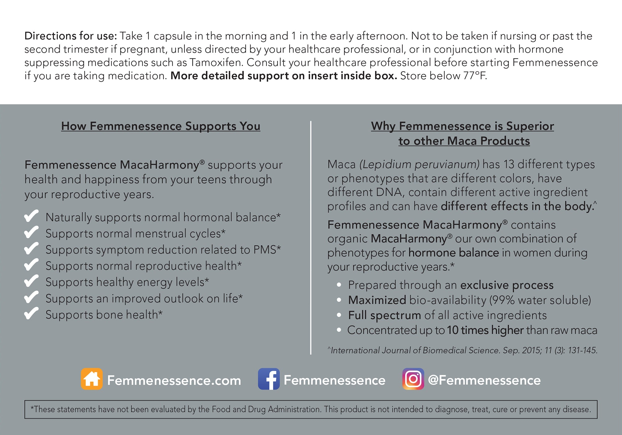MacaHarmony - Welcome Pack <br>For Reproductive Health