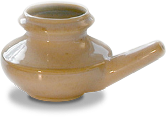 Neti pot for nasal decongestant and sinus infection