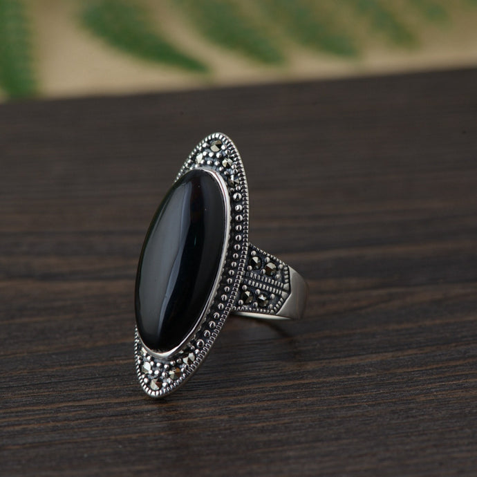 Black Agate Mirror