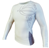FUJI Inverted Long Sleeve Rashguard, White - BJJFAQ.com