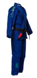 FUJI Sports Kids Gi Blue Blossom - BJJFAQ.com