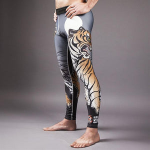 Meerkatsu - Midnight Tiger Grappling Tights - BJJFAQ.com