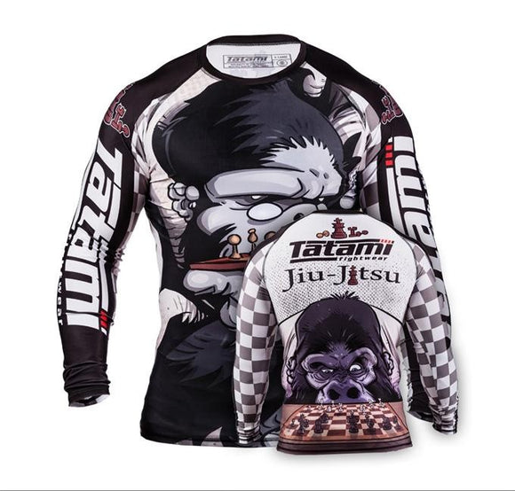 Tatami - X Chris Burns Chess Gorilla Rashguard - BJJFAQ.com