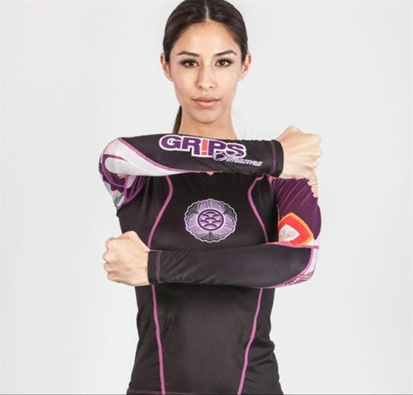 Grips - Athletics Power Flower Ladies Rashguard - BJJFAQ.com
