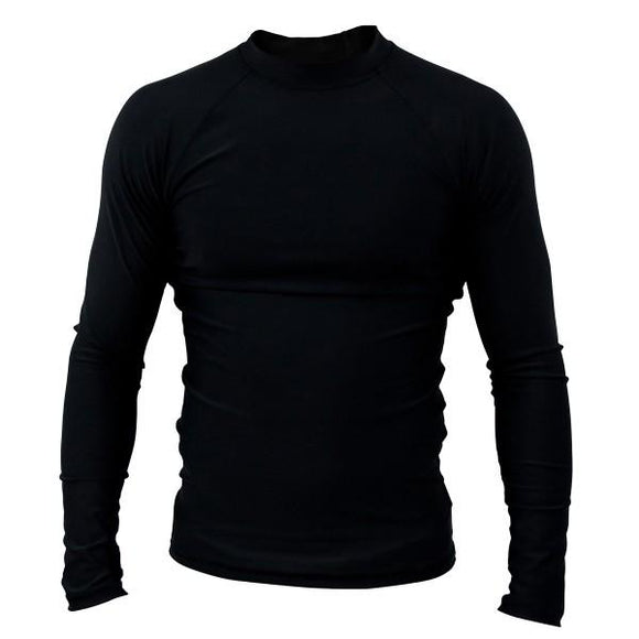 Clinch Gear - Basic Black Rashguard - Long Sleeve - BJJFAQ.com