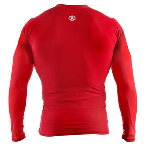 Clinch Gear - Basic Red Rashguard - Long Sleeve - BJJFAQ.com
