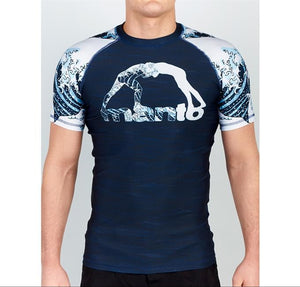 Manto - Waves Short Sleeve Grappling Rashguard - BJJFAQ.com