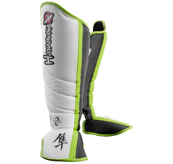 Hayabusa Mirai Series Shin Guards (White/Black) - BJJFAQ.com
