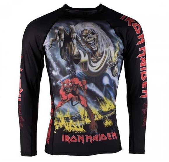 Tatami - Iron Maiden Number Of The Beast Grappling Rashguard - BJJFAQ.com