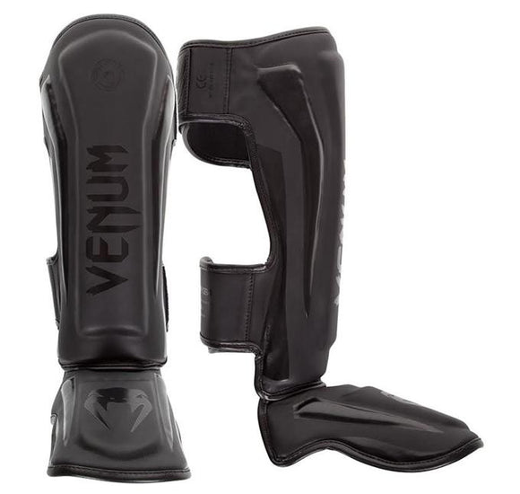 Venum Elite Standup Shinguards - Matte/Black - BJJFAQ.com