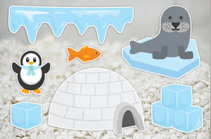Antarctica | Static Cling | Pet Cage Theme
