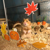 Furnishables Autumn Falls static cling sticker theme for decorating and customising small pet cages and tanks