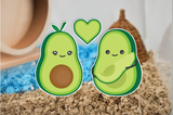 Avocado Family | Static Cling Stickers