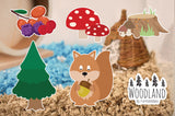 Furnishables Woodland static cling sticker theme for decorating and customising cages and tanks.