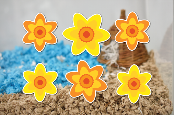 Daffodils | Static Cling Stickers