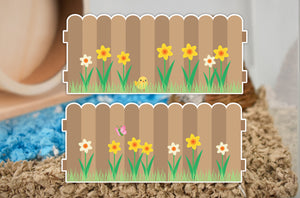 Spring Fence | Static Cling Sticker