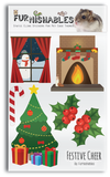 Product image of Furnishables Festive Cheer static cling sticker theme for decorating and customising cages and tanks for small pets