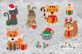Xmas Party | Static Cling | Pet Cage Theme