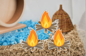 Campfires | Static Cling Stickers