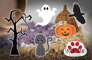 Spooky Paws | Static Cling | Pet Cage Theme