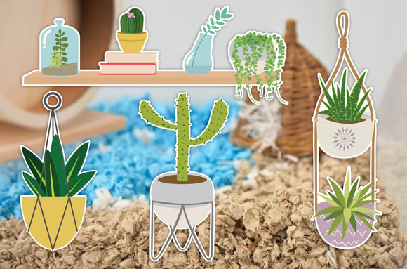 Indoor Garden | Static Cling | Pet Cage Theme